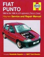 HAYNES WORKSHOP REPAIR SERVICE MANUAL FIAT PUNTO (94 - 99) 3251 PETROL DIESEL